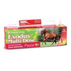 Exodus (43.9% Pyrantel) Paste Multi-dose syringe for horses (47.2g)