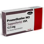RX PROMETHAZINE SUPPOSITORY, 12.5MG, 12/PK