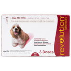 RXV, ZOETIS, REVOLUTION RED, DOGS, 3PK, 21-40LBS