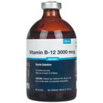 RXV VITAMIN B12 INJ (VET) 3000MCG, 100ML VET LABEL