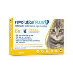 RXV ZOETIS REVOLUTION PLUS FOR CATS, 2.8-5.5LB, GOLD LABEL (6 DOSE)