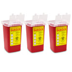 SHARPS CONTAINER 1 QT, 3/PACK