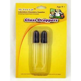 "GLASS DROPPERS, 3"",BX10"