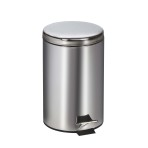RECEPTACLE,WASTE, ROUND,STAINLESS STEEL,EACH