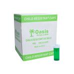 VIAL,8 DRAM,GREEN,SAFE/CAP, 410/CS