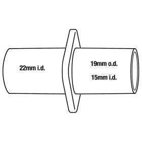 Anesthesia, hose conn., 15mm ID/19mm OD/22mm ID, 2pk