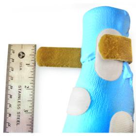 Splint, strap hook for thermoplastic splints w/velcro