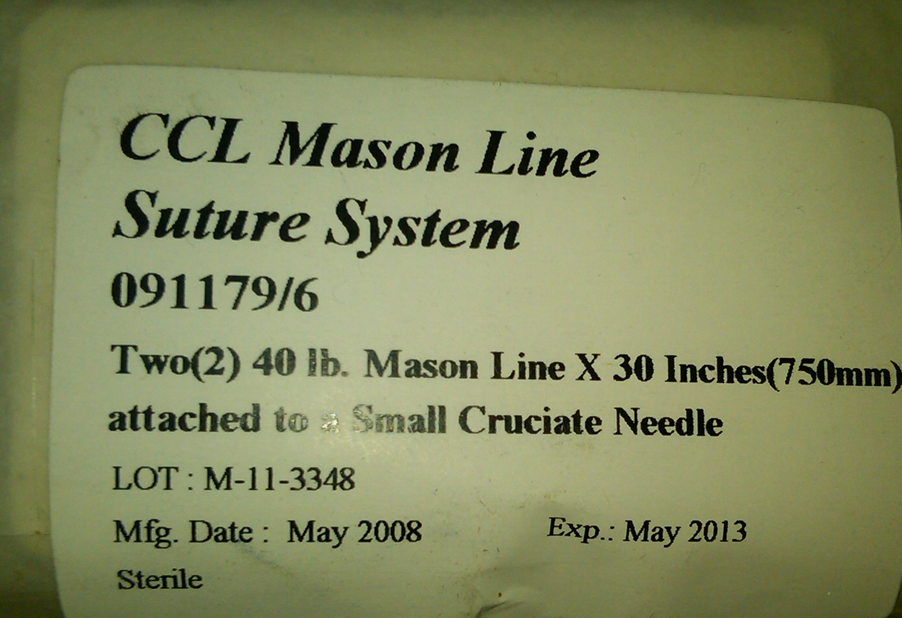 80-lb Dbl Mason nylon w/small needle