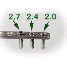 2.4MM x 34MM CORTICAL SELF-TAPPING SCREWS