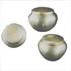 Urn,Pewter/Brass double paw Odyssey med urn