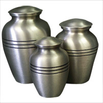 Urn,Classic Pewter urn-large