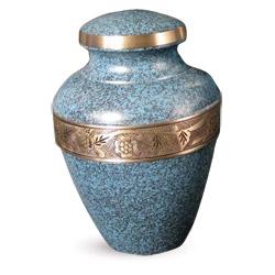 Urn,Avalon evening blue urn-medium