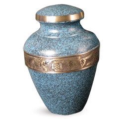 Urn,Avalon evening blue urn-large