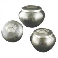 Urn,Slate-Pewter single paw Odyssey large urn