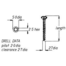 Screw, cortical, 2.7mm x 30mm, 6pk
