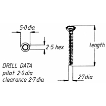 Screw, cortical, self-tapping, 3.5mm x 38mm