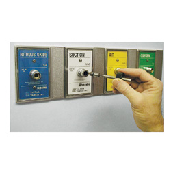 Nitrogen recessed wall outlet