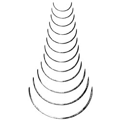 "Needle, taper, 3/8 circle, 3 1/4"", dz"