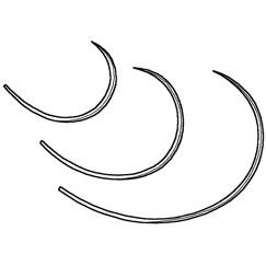 Suture, cruciate repair, suture needle-medium, 6pk