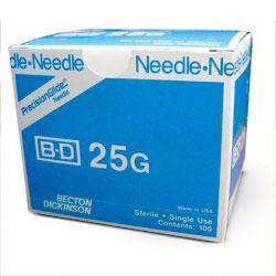 """NEEDLE,25g X 5/8"""",BD,100/BX"""