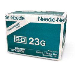 """NEEDLE,23g  X 1"""",BD,100/BX"""