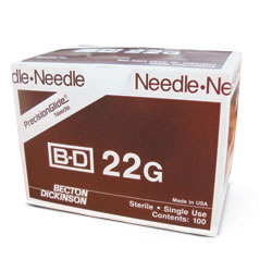 BD 305156 PrecisionGlide Needle, 22G x 1 1/2