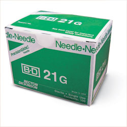 BD 305165 PrecisionGlide Needle, 21G x 1