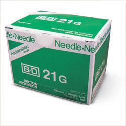 """NEEDLE,21g X 1"""",BD,100/BX"""