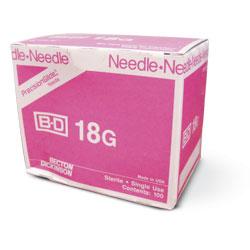 """NEEDLE,18G X 1"""",BD,100/BX"""