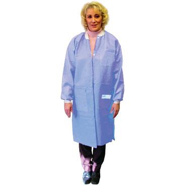 Disposable Lab Coat. Knee length. Ciel Blue. X-Large.