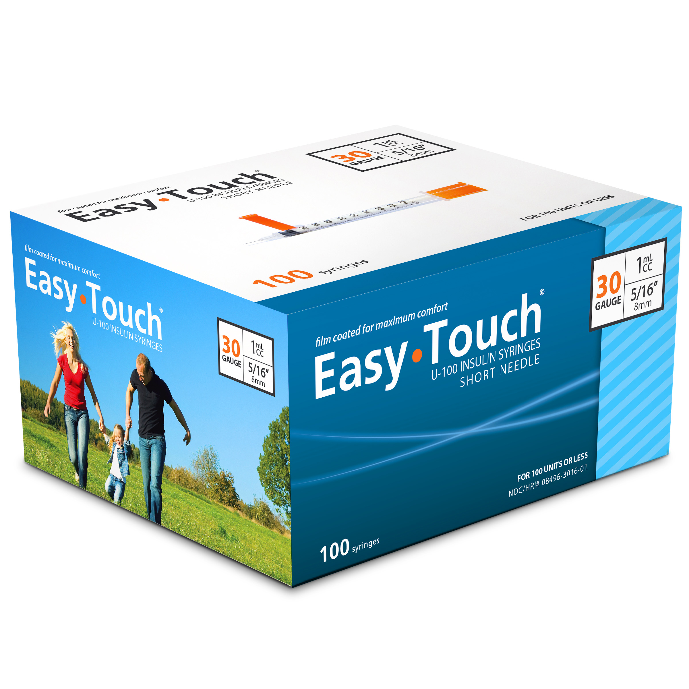 Easy Touch Insu... U 100 Insulin Syringes
