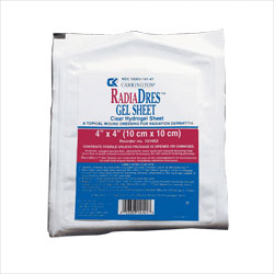 DRESSING, RADIADRES GEL SHEET 4X4,60/CS