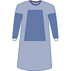 Gown, Aurora Surgical Gown, Poly reinforced Sterile w/towel, x-large, x-long, 28/case