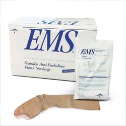 Stocking, Anti-embolism, knee-hi, large, regular, 12 pair/box