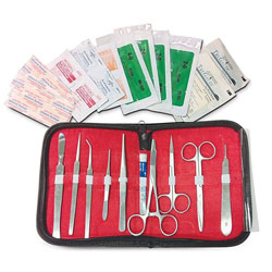 Survival & Suture Emergency First Aid Kit 26PC w/carry case