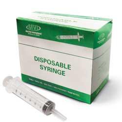 Med-Vet Syringes 60cc Catheter Tip 25/bx