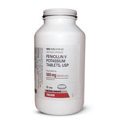 P : Penicillin VK 500mg, 500 tablets