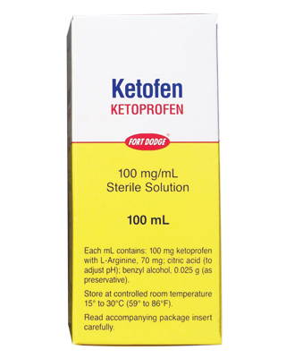RXV, ZOETIS, KETOFEN INJECTION,100MG/ML,100