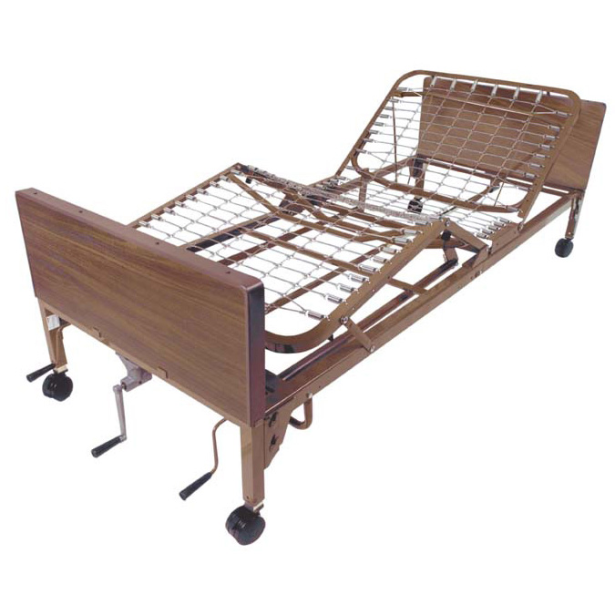 Bed Hospital Manual Brown 36in