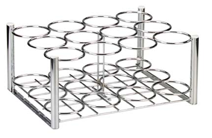RACK,OXYGEN CYLINDER,CHROME,16X10.5IN