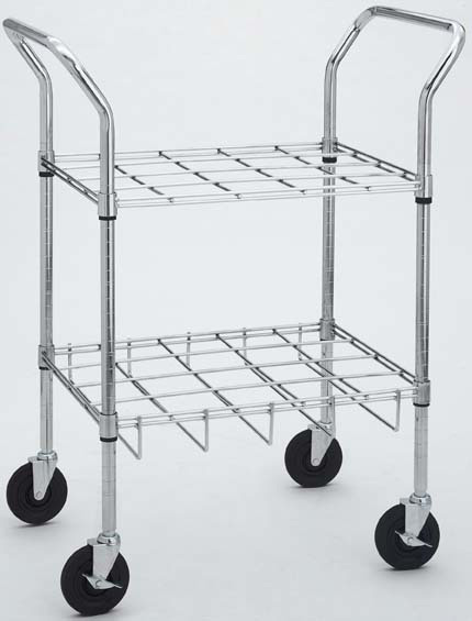 Oxygen Cylinder Carts for E, D, C or M9 Cylinders, Chrome, 20 Cylinder Size