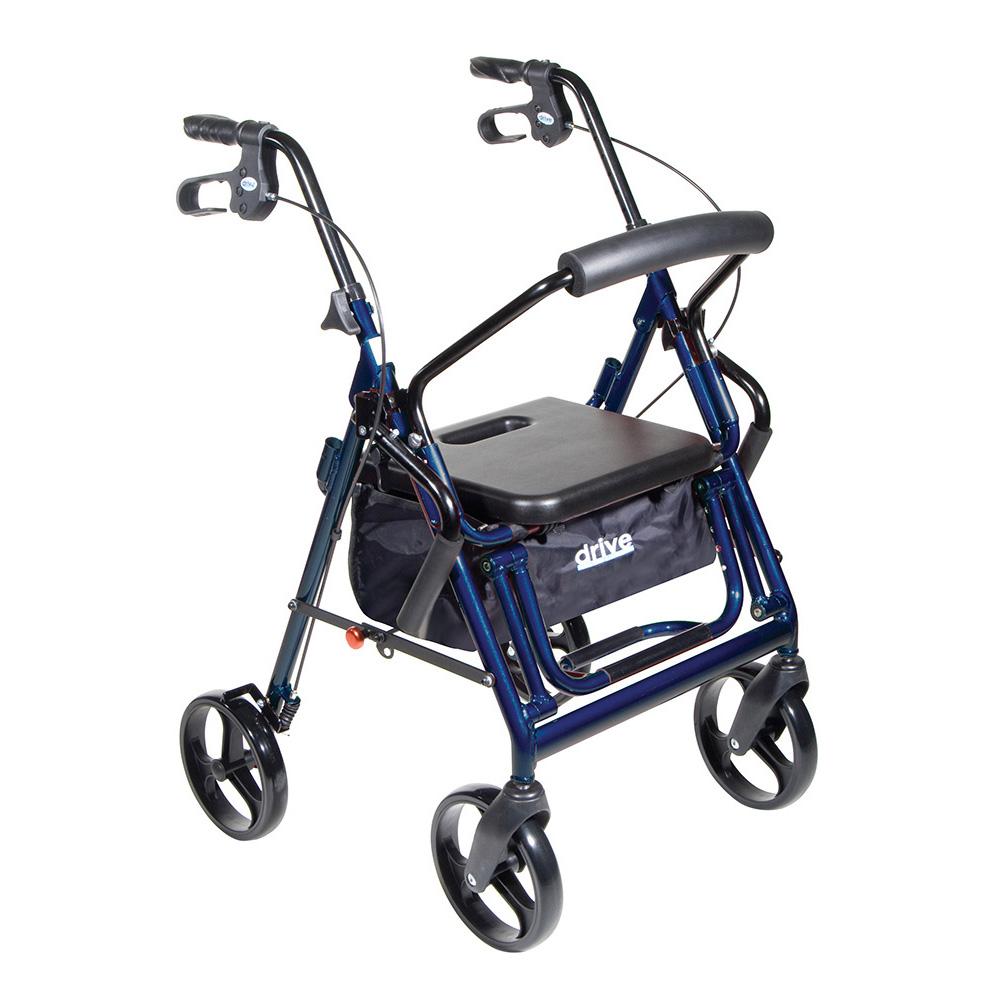 Duet Transport Wheelchair Chair Rollator Walker Blue