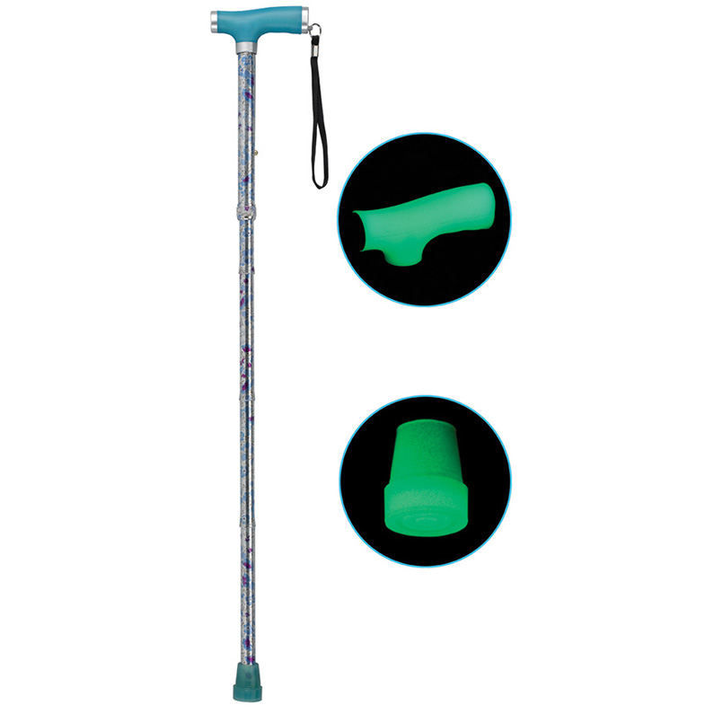 Folding Canes with Glow Grip Handle, Celebration, Standard Size