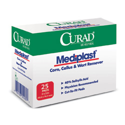 Curad Mediplast® Wart Removal Pads, 2