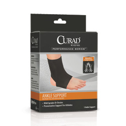 Support, Ankle,Neoprene,Open Heel, XLarge,Each
