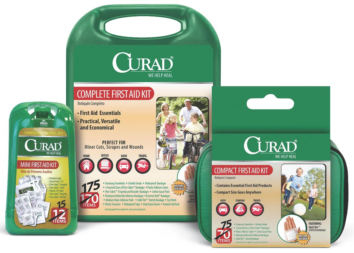 Curad Compact 75 Piece First Aid Kit, 6/Case