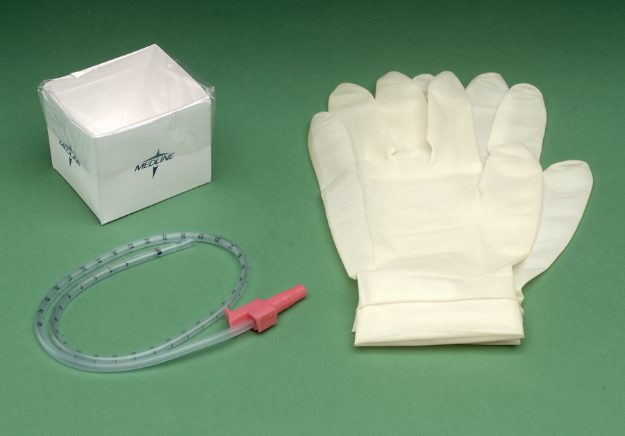Suction Catheter Kit 14FR w/ Gloves and Sterile Water (case of 36)