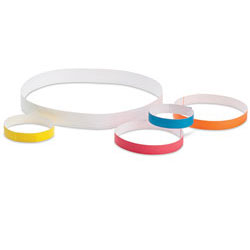 "ID BANDS,WHITE,20""x1"",500/CS"