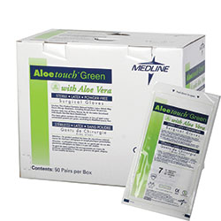 Aloetouch Green Surgeon Gloves, Size 9.0 200 Pair/Case
