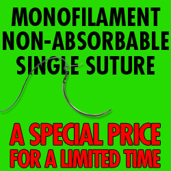 Monofilament non-absorbable Suture  2-0 Cutting Each